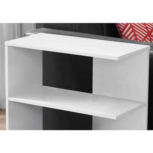 "Table d'appoint, 11,5"" x 24"", composite, blanc"