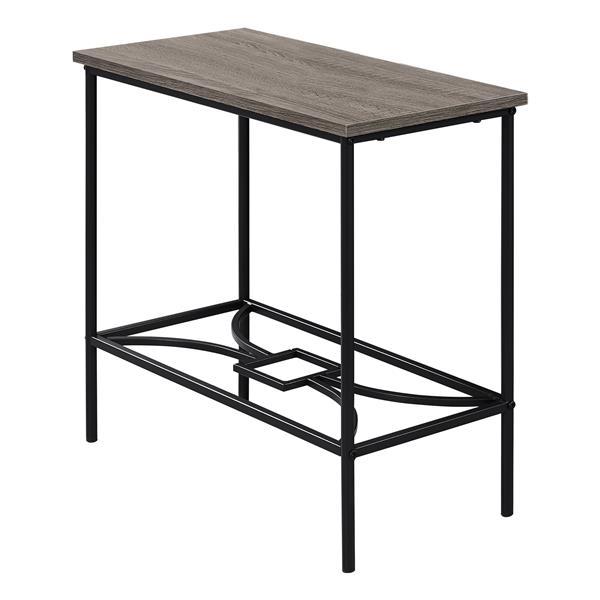 """Table d'appoint, 11,75"""" x 22"""", composite, taupe foncé"""