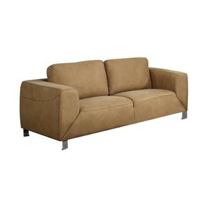 Monarch Love Seat - 71-in x 32-in - Microsuede - Tan