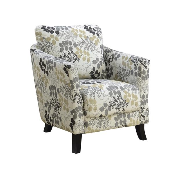 """Fauteuil d'appoint, 33"""" x 35"""", polyester, beige"""