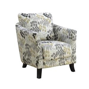 "Fauteuil d'appoint, 33"" x 35"", polyester, beige"