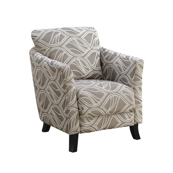 Monarch Accent Chair - 33-in x 35-in - Polyester - Taupe