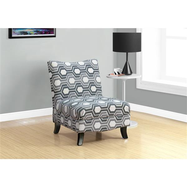 """Fauteuil d'appoint, 32,5"""" x 33"""", polyester, gris"""