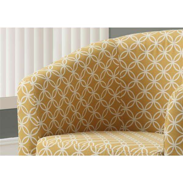 Monarch Accent Chairs - 28.5-in x 30-in - Polyester - Yellow - 2 pcs