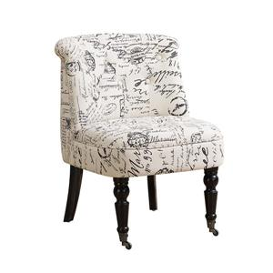 """Fauteuil d'appoint, 27"""" x 30,75"""", polyester, beige"""