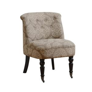 Monarch Accent Chair - 27-in x 30.75-in - Polyester - Taupe