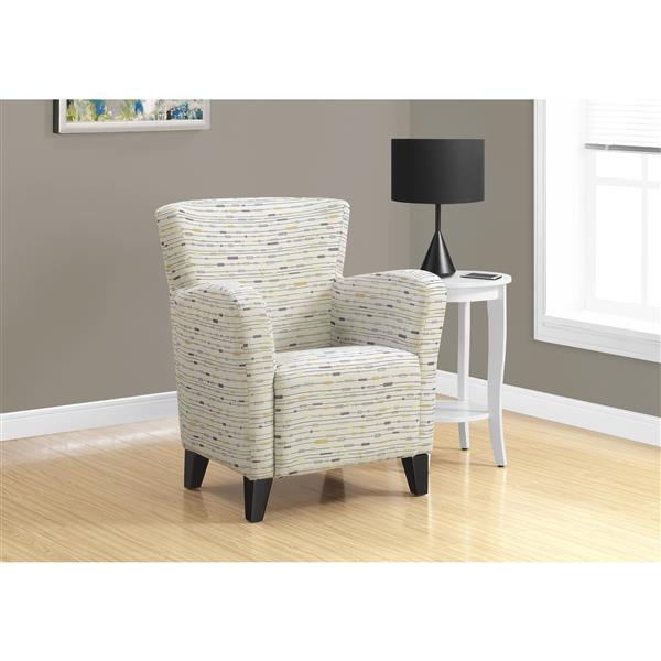 """Fauteuil d'appoint, 30"""", polyester, beige"""