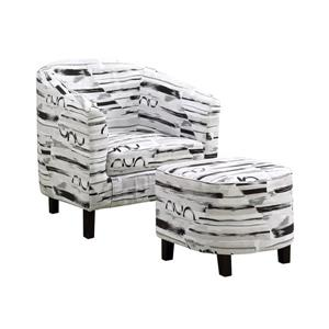 Monarch Accent Chairs - 28.5-in x 30-in - Polyester - White - 2 pcs