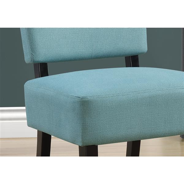 """Fauteuil d'appoint, 27,5"""" x 31,5"""", polyester, Sarcelle"""
