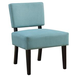 Monarch Accent Chair - 27.5-in x 31.5-in - Polyester - Teal