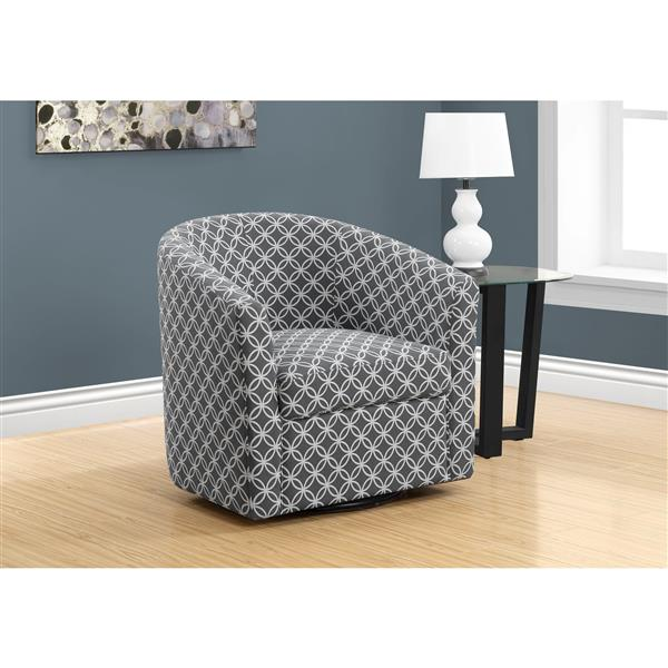 Monarch Accent Chair - 28-in x 29.5-in - Linen - Gray