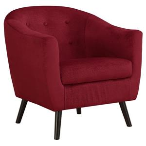 Monarch Accent Chair - 31.5-in x 31.75-in - Polyester - Red