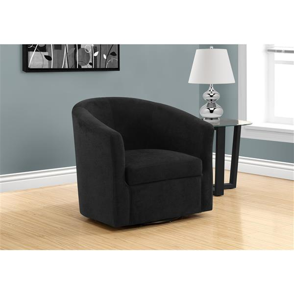 Monarch Accent Chair - 28-in x 29.5-in - Polyester - Black