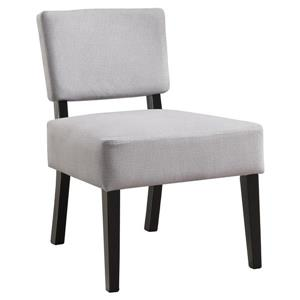"""Fauteuil d'appoint, 27,5"""" x 31,5"""", polyester, gris"""