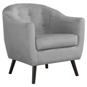 """Fauteuil d'appoint, 31,5"""" x 31,75"""", polyester, gris"""