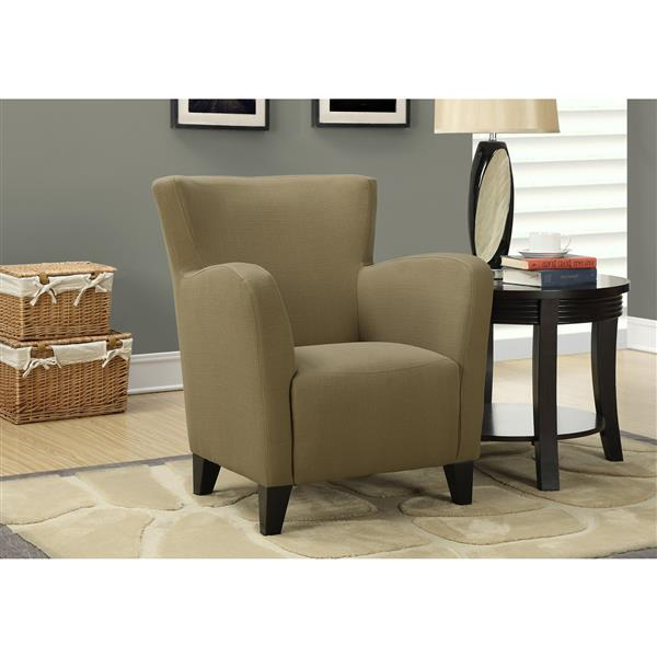 Monarch Accent Chair - 35-in - Linen - Brown