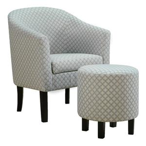 Monarch Accent Chairs - 26.25-in x 32.5-in - Polyester - Blue - 2 pcs