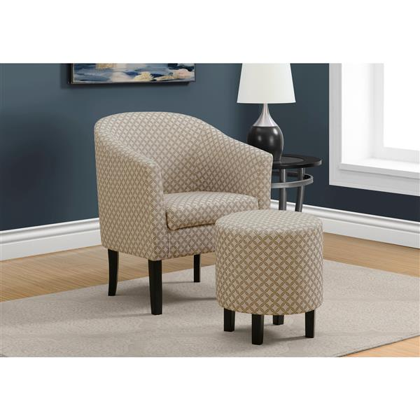 """Fauteuils d""""appoint, 26,25"""" x 32,5"""", polyester, taupe, 2 mcx"""