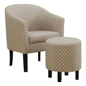Monarch Accent Chairs - 26.25-in x 32.5-in - Polyester - Taupe - 2 pcs