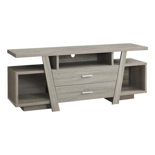 Monarch TV Stand - 60-in x 23.75-in - Composite - Taupe