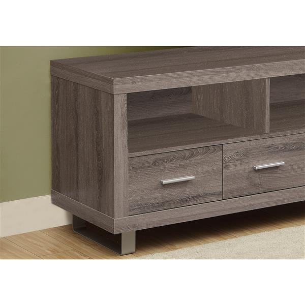 Monarch TV Stand - 47.25-in - Composite - Dark Taupe