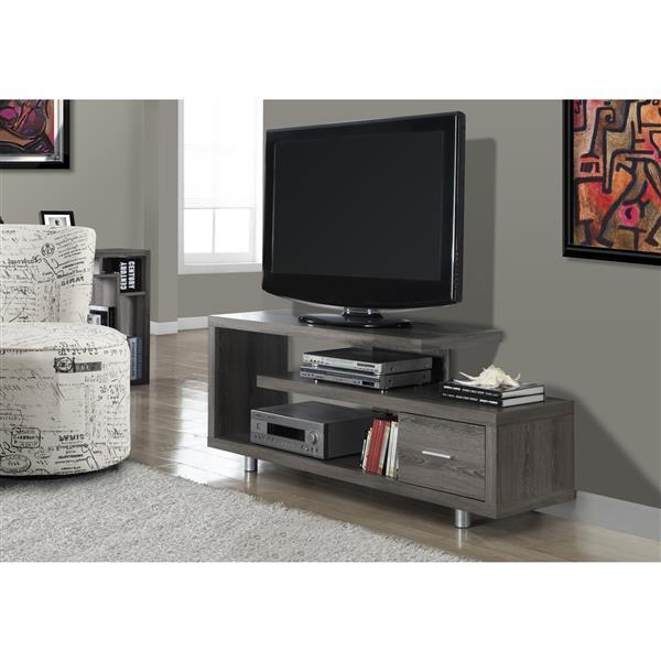 Monarch TV Stand - 60-in - Composite - Dark Taupe