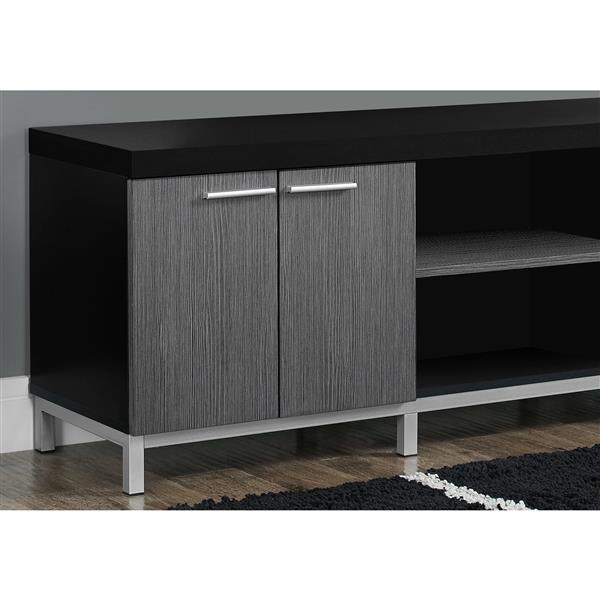 Monarch TV Stand - 60-in x 21.25-in - Composite - Black