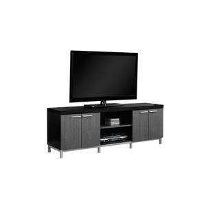 Monarch TV Stand - 60-in x 21.25-in - Composite - Black
