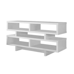 Monarch TV Stand - 47.25-in x 23.75-in - Composite - White