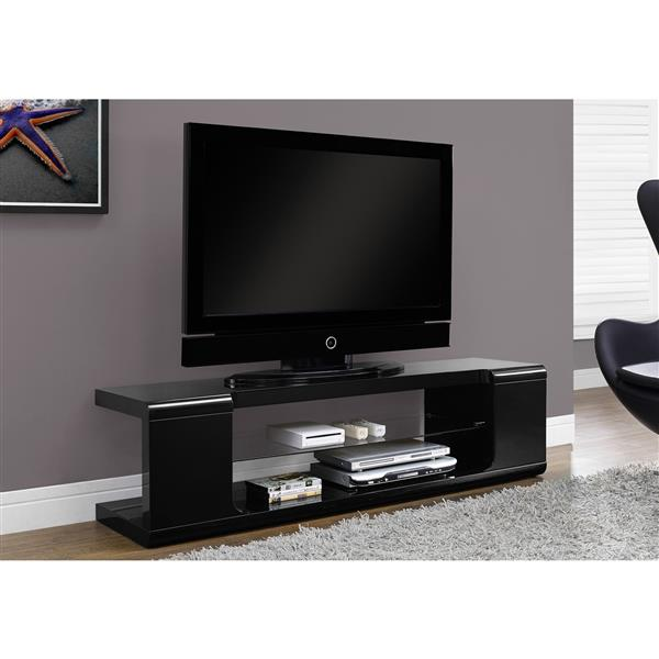 Monarch TV Stand - 59-in x 15.75-in - Composite - Black