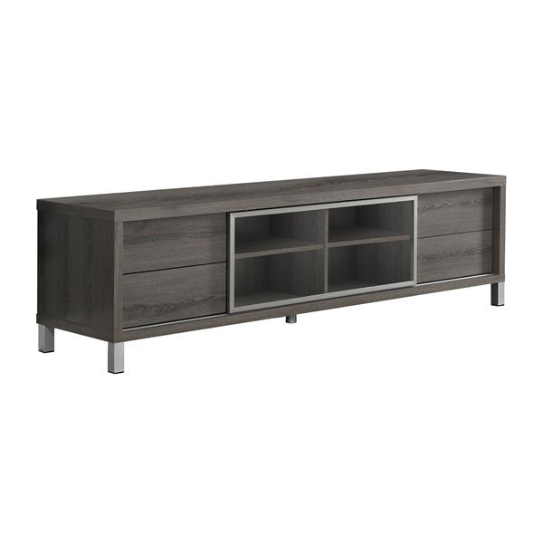 Monarch TV Stand - 71-in x 19.75-in - Composite - Dark Taupe