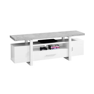 Monarch TV Stand - 60-in x 22-in - White