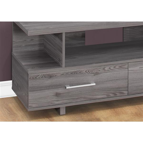 Monarch TV Stand - 47.75-in x 20-in - Composite - Gray