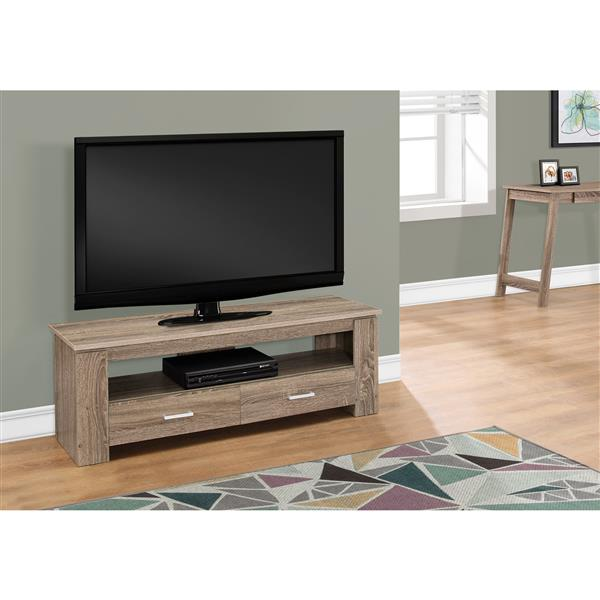 Monarch TV Stand - 47.25-in x 16.25-in - Composite - Dark Taupe