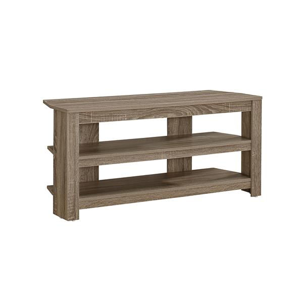 Monarch TV Stand - 42-in x 19.75-in - Composite - Dark Taupe
