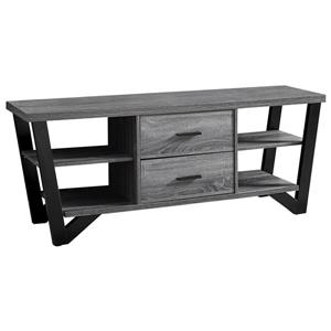 Monarch TV Stand - 60-in x 23-in - Composite - Gray