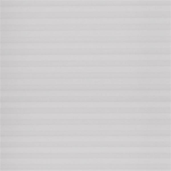 """Store alvéolaire filtrant , 23,5"""" x 64"""", polyester, gris"""