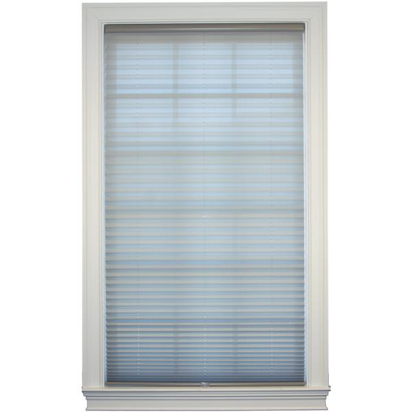 "Store plissé filtrant, 30,5"" x 72"", polyester, gris"