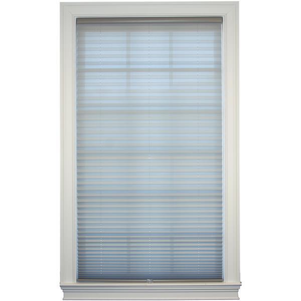 "Store plissé filtrant, 29,5"" x 72"", polyester, gris"