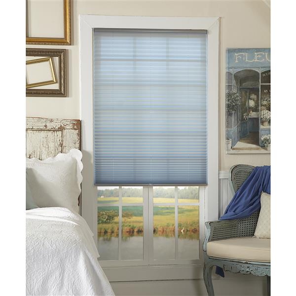 """allen + roth Light Filtering Pleated - 20"""" x 72"""" - Polyester - Gray"""