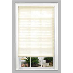 "allen + roth Light Filtering Pleated - 37.5"" x 72"" - Polyester - Ecru"