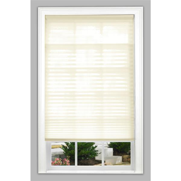 "allen + roth Light Filtering Pleated - 71.5"" x 64"" - Polyester - Ecru"