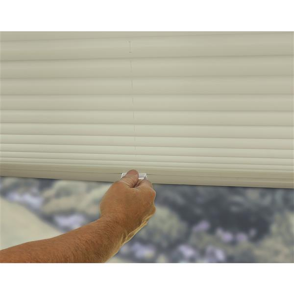 """allen + roth Light Filtering Pleated - 60"""" x 48"""" - Polyester - Ecru"""