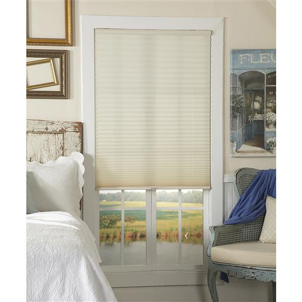 "allen + roth Light Filtering Pleated - 22.5"" x 48"" - Polyester - Ecru"
