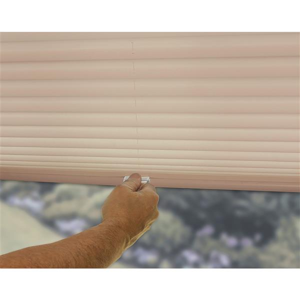 """allen + roth Light Filtering Pleated - 68"""" x 64"""" - Polyester - Camel"""