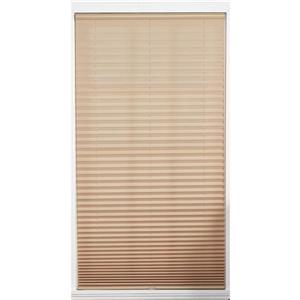 Store plissé filtrant, 37,5" x 64", polyester, chameau