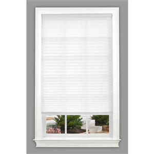 "allen + roth Light Filtering Shade - 26"" x 72"" - Polyester - White"