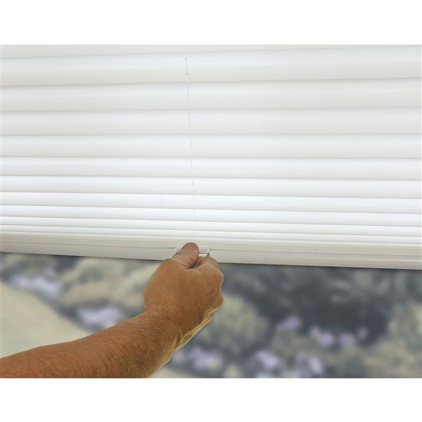 """allen + roth Light Filtering Shade - 57"""" x 64"""" - Polyester - White"""