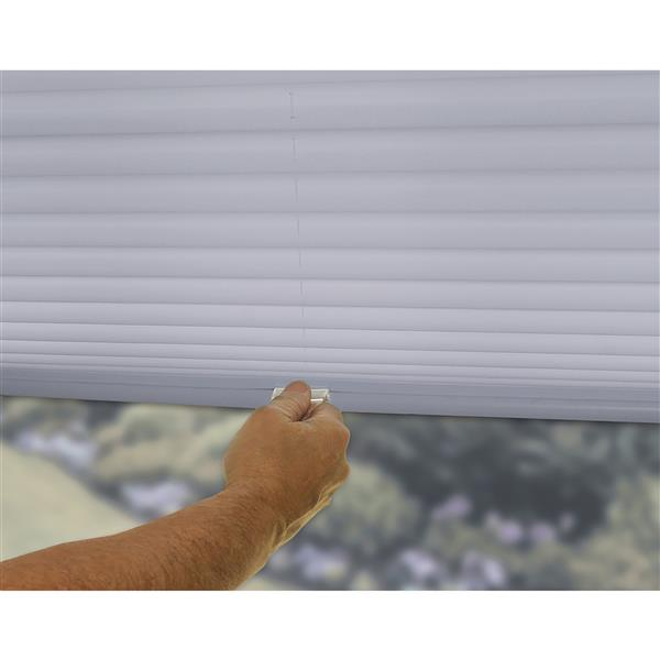 "allen + roth Light Filtering Shade - 62"" x 48"" - Polyester - Gray"