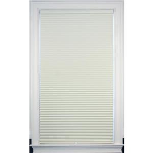 """Store coupe-lumière, 71"""" x 72"""", polyester, crème/blanc"""